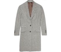 Solomeo Cashmere And Silk-blend Herringbone Coat
