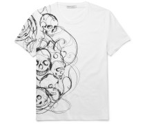 Slim-fit Skull-print Organic Cotton-jersey T-shirt