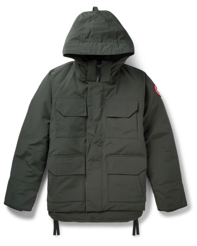 Maitland Shell Hooded Down Parka - Green