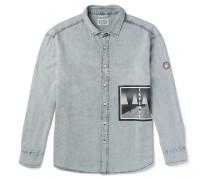 Printed Washed-denim Shirt