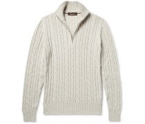 Cable-knit Baby Cashmere Half-zip Sweater