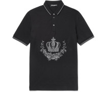 Slim-fit Embroidered Cotton-piqué Polo Shirt