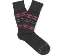 Lhasa Fair Isle Knitted Socks
