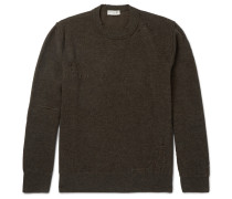 Distressed Wool And Cotton-blend Sweater