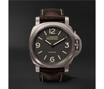 Luminor Base 8 Days Titanio 44mm Brushed-titanium And Alligator Watch