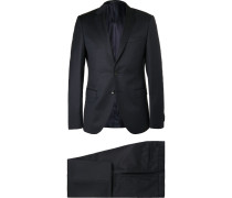 Blue Rocco Wyatt Slim-fit Pinstriped Virgin Wool Suit