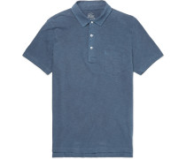 Slim-fit Garment-dyed Slub Cotton-jersey Polo Shirt