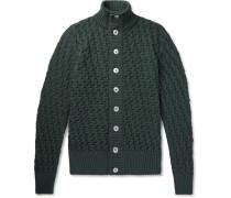 Stark Textured-knit Wool Cardigan