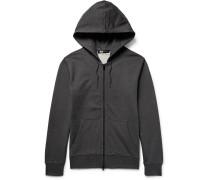 Printed Loopback Cotton-jersey Zip-up Hoodie