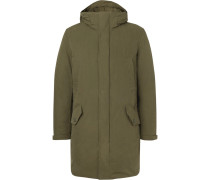 Cotton-blend Twill Hooded Down Parka - Green