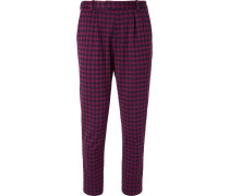 Marco Slim-fit Pleated Houndstooth Woven Suit Trousers