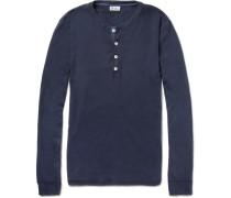 Long-sleeved Cotton-jersey Henley T-shirt