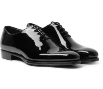 James Whole-Cut Patent-Leather Oxford Shoes