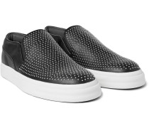 Studded Leather Slip-on Sneakers