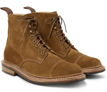 Cap-toe Triple-welted Suede Boots