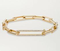 14-Karat Gold Diamond Chain Bracelet