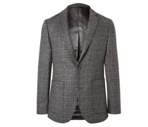 Houndstooth Wool Suit Jacket