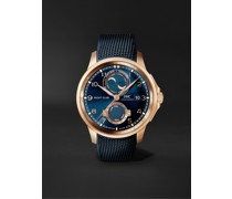 Portugieser Yacht Club Moon & Tide Automatic Chronograph 44.6mm 18-Karat Red Gold and Rubber Watch, Ref. No. IW344001