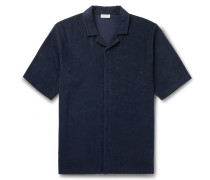 Camp-Collar Organic Cotton-Terry Shirt