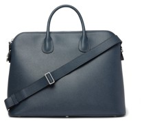 My Logo Pebble-Grain Leather Briefcase