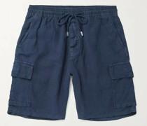 Baie Linen Drawstring Cargo Shorts