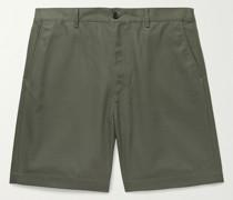 Wide-Leg Cotton-Blend Twill Shorts