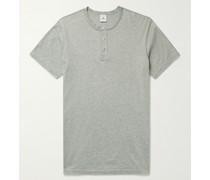 Pima Cotton-Jersey Henley T-Shirt