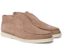 Open Walk Suede Loafers