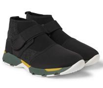 Neoprene High-top Sneakers