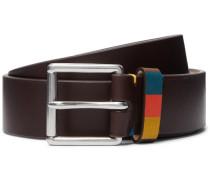 3.5cm Brown Leather Belt