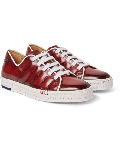 Playfield Polished-leather Sneakers
