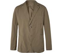+ Johannes Huebl Unstructured Cotton-Blend Seersucker Suit Jacket