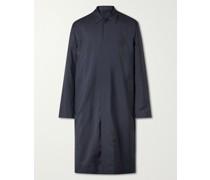 Pinstriped Virgin Wool, Merino Wool and Silk-Blend Car Coat
