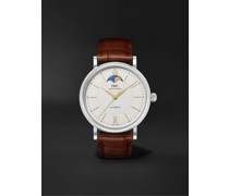 Portofino Automatic Moon-Phase 40mm Stainless Steel and Alligator Watch, Ref. No. IW459401