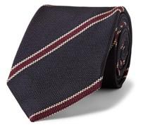 + Drake's 8cm Striped Silk-Jacquard Tie