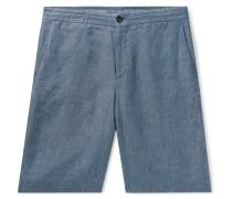Mélange Linen Bermuda Shorts