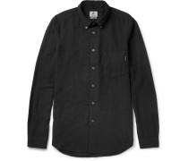 Button-down Collar Cotton-blend Shirt