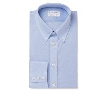 + Turnbull & Asser Blue Slim-fit Button-down Collar Cotton-piqué Shirt
