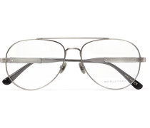 Aviator-style Silver-tone Optical Glasses