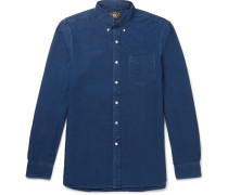 Slim-fit Button-down Collar Overdyed Cotton Oxford Shirt