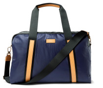 Leather-trimmed Two-tone Shell Holdall