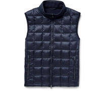 Panelled Quilted Shell And Wool Down Gilet