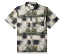 Alpons Printed Cotton-Poplin Shirt