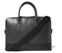 London Bi-colour Grained-leather Briefcase