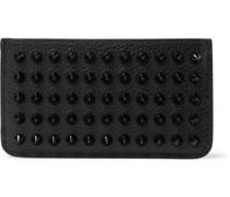 Studded Full-Grain Leather Cardholder