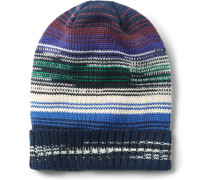 Space-dyed Wool-blend Beanie