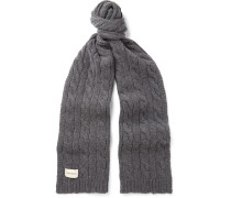 Arbury Cable-knit Wool-blend Scarf