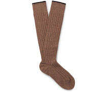 Mélange Cashmere Over-the-calf Socks