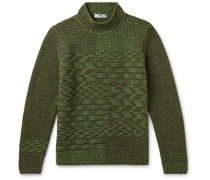 Merino Wool and Cashmere-Blend Mock-Neck Sweater