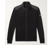 Kelby Slim-Fit Quilted Shell-Trimmed Wool Zip-Up Sweater
